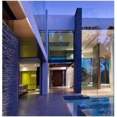 Contemporary Exterior Vertical Lift Door Residence