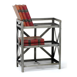 Iron Drafters Shelf - Drafters Shelf is really a great choice for making your area storage savvy. Crafted from iron, this is finished with nickel plated that gives it a conventional look.Sure it will give beautiful look to your study room.