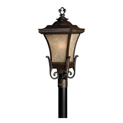 Hinkley Lighting - Regency Bronze 1 Light LED Post Light from the Brynmar Collection - Hinkley Lighting 1931RB-LED Brynmar LED Outdoor Post Mount Light This LED outdoor post mount light by Hinkley Lighting is available in a regency bronze