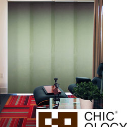 None - Chicology  Cucumber Cordless 4 Panel System Alps Blinds - Chicology's Cordless Sliding Panels are able to fit almost every window in the house because they are adjustable in width and length. This cordless panel system,made of sheer fabric,can also be used as a room divider or a closet door.