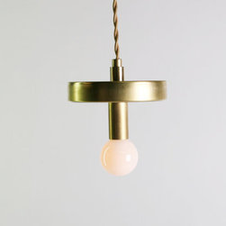 Mirror Pendant Lighting, Brass by Damm Design - This is such a pretty brass hanging pendant.