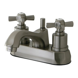 """Kingston Brass - Kingston Brass Millennium Satin Nickel 4"""" Centerset Lavatory Faucet KS4268ZX - This traditional centerset faucet with its faceted base and spout  will work well with most traditional or transitional d_cors, manufactured from solid brass this faucet features ceramic cartridge for long lasting performance.. Manufacturer: Kingston Brass. Model: KS4268ZX. UPC: 663370283918. Product Name: Kingston Brass Millennium 4"""" Centerset Lavatory Faucet, Satin Nickel. Collection / Series: Millennium. Finish: Satin Nickel. Theme: Modern. Material: Brass. Type: Lavatory Faucet. Features: Max 2.2GPM/8.3LPM At 60 PSI"""