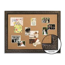 "Corkboard - 44"" x 32"" Framed Cork Board, Cassandra - Dimensions include frame."