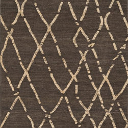 "Loloi Rugs - Loloi Rugs Adler Collection - Turkish Coffee, 3'-6"" x 5'-6"" - The Adler Collection pushes traditional flat-weaves to new heights. Its innovative high/low texture elevates the wool to form a pronounced pattern and faintly Moroccan style look. Hand-woven of 100% wool in India, Adler is available in a cool, on trend set of neutral colors."