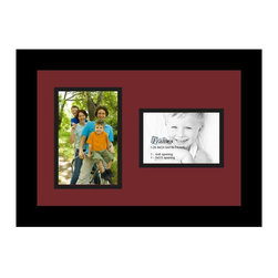 ArtToFrames - ArtToFrames Collage Photo Frame  with 1 - 3.5x5, 4x6 Openings and Satin Black Fr - Your one-of-a-kind photos deserve one-of-a-kind frames, but visiting a custom frame shop can be time consuming and expensive. ArtToFrames extensive and growing line of inexpensive multi opening Photo Mats will get you the look you want at a price you can afford. Our Photo Mats come in a variety of sizes and colors and can be custom made to your needs. Frame choices range from traditional to contemporary, with both single and multiple photo opening mat options. With our large selection of custom frame and mat choices, the design possibilities are limitless. When you're done, you'll have a unique custom framed photo that will look like you spent a fortune at a frame shop. Your frame will be delivered directly to your front door or sent as a gift straight to your recipient.