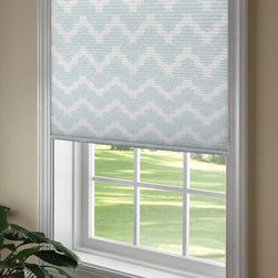 Waverly Cellular Shades - Waverly Airwaves Cellular Shades elegant and simple chevron pattern allows you to create your own unique decor. Waverly Airwaves cellular shades are available in light filtering fabric and blackout fabric, options that allow you to control the desired privacy and light filtering levels.