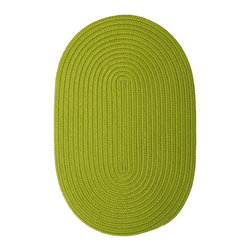 Colonial Mills - Colonial Mills Boca Raton BR65 Bright Green Rug BR65R024X036 2x3 - Just pick a coloreany colorethey are all here! This colorful outdoor rug utilizes a simple flat braid construction in an array of colors to put a fashionable stamp on your decor.
