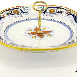 Artistica - Hand Made in Italy - RICCO DERUTA: Tid-Bit Shallow Bowl - Artistica's EXCLUSIVE!