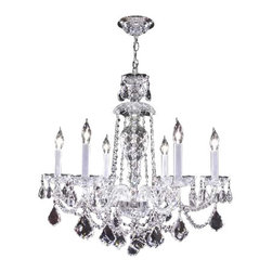 James R Moder - 95896S44 James R Moder Budget Chandelier - In most designs, the major cost of a Crystal Chandelier is the price of the Crystal components. The quantity and shapes of the Crystal utilized to trim the Chandelier and most importantly, as in grades of diamonds, the crystal quality determines the price. James R Moder  Crystal offers our exclusive REGAL HAND-CUT AND POLISHED CRYSTAL (-44). These Chandeliers are trimmed with hand-cut and other Crystal produced by artisans in EUROPE and worldwide. This quality is popular for those who appreciate fine handcraftsmanship at a moderate price.