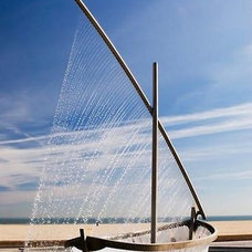 Modern Outdoor Fountains Fountain-sailboat