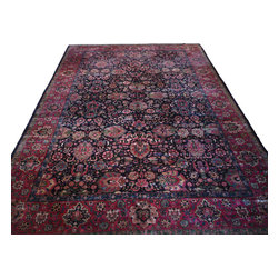 11'3 x 16'3 Antique Mashad Rug - Oriental rugs are famously known to gain more value over time. An authentic Antique or Semi-Antique rug is not only an instant centerpiece in any setting, but is a wonderful investment which only increases over the years. This collection features rare and valuable authentic hand-knotted area rugs from all over the world at exclusive discount prices.