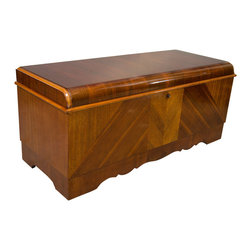 Vintage American Art Deco Style Walnut Chest by Lane - The HighBoy, Ateliers Dubois