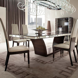 Giorgio Collection - Luxurious. Sophisticated. The Giorgio Collection's DAYDREAM dining set. Wrapped in deep Makassar ebony and satin finish, accented in beveled mirrors and stainless steel inlays, all finely crafted in Italy.