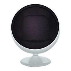 Eero Aarnio Style Ball Chair in Black