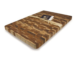 Madeira - Madeira Canary Jumbo End-grain Teak Chop Block - Easily prepare delicious meals with the help of this gorgeous end-grain cutting board. Crafted with eco-friendly teak products, this large rectangular chop block is extremely durable to resist kitchen wear and tear.