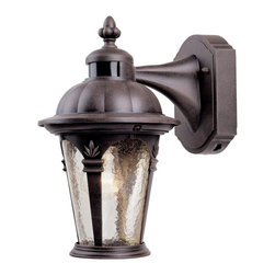 Designers Fountain - Designers Fountain Quintessence Outdoor Wall Mount Light Fixture in Autumn Gold - Shown in picture: Motion Detector Outdoor Lighting in Autumn Gold finish