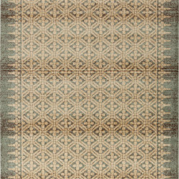 "Surya - Surya Tatil TTL-1015 (Beige, Chocolate, Gold, Moss) 7'6"" x 10'6"" Rug - This Machine Made rug would make a great addition to any room in the house. The plush feel and durability of this rug will make it a must for your home. Free Shipping - Quick Delivery - Satisfaction Guaranteed"