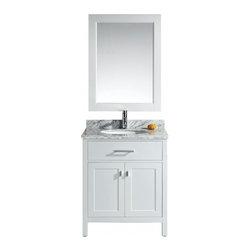 "Design Element - Design Element DEC076E-W London 30"" Single Sink Vanity Set in White - Design Element DEC076E-W London 30"" Single Sink Vanity Set in White"