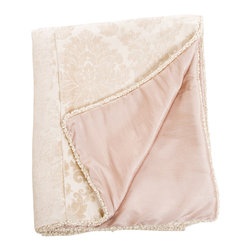 Glenna Jean - Victoria Reversible Damask and Pink Children's Duvet Twin - The Victoria Reversible Damask and Pink Children's Duvet by Glenna Jean will look great in any child's room.