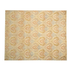 1800-Get-A-Rug - Oriental Rug Hand Knotted Rug Ikat Heart Design Sh13328 - About Wool Pile