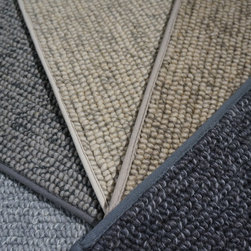 Showroom Products - Bremworth Fargo.  Made in New Zealand.  This luxury berber offers the added texture appearance by using and complimentary accent colors.  Made of New Zealand wool.  Can be made into area rugs of any size too.