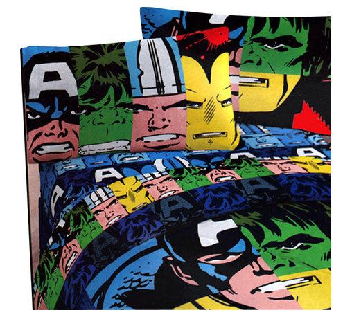 Store51 LLC - Marvel Comics Classic Avengers 4-Piece Twin Bedding Set - Features: