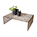 BoBo's Intriguing Objects - Jali Coffee Table - All over India, you'll see jali — ornamental screens that are integral to the architecture. Now, it can spice up your space too. This cool coffee table repurposes genuine old jali screens for the ultimate in salvage style.