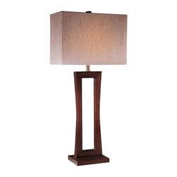 Minka Lavery - Minka Lavery 10710-625 Table Lamp In Metropolitan Cherry - Manufacturer: Minka Lavery