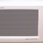 """Sharp - R820BW Grill 2 Convection Countertop Microwave in White - Features: -0.9 cu. ft., 900 Watts (top and bottom heaters: 1,500 Watts). -2-line, 12 digit interactive display. -12 3/4"""" diameter turntable. -7 automatic settings. -Temperature control, 100º, 150º, 275º - 450ºF in 25º increments. -AC line voltage: 120V, Single Phase, 60Hz, AC only. -AC power required: 1.55kW, 13.0A. -Interior dimensions: 7.5""""H x 13.875""""W x 14.5"""". -Exterior dimensions: 12.125""""H x 20.5""""W x 19.75""""D. Enhanced browning and crisping are possible in a convection microwave oven. Thats because only the Grill 2 Convection has """"double"""" grills that emit radiant heat both over and under food. The AutoGrill automatically grills steaks, burgers, fish and poultry without drying. Another great feature, the AutoRoast, automatically roasts eye of round, chicken, turkey breast and pork loin to perfection. Both AutoDefrost and the Reheat functions provide quick and even results everytime! A 2 line, 12 digit interactive display provides easy programming steps, cooking hints, and special options. Available in Dark Gray, White or Silver."""