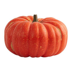 "Nearly Natural - Perfect Pumpkin Decor - Cut stem. Orange color. 15 in. L x 14 in. W x 9 in. HHere's a pumpkin that looks so real, you'll be tempted to carve a face into it! Here's a pumpkin that looks so real, you'll be tempted to carve a face into it! But don't, because this is a Halloween decoration that you'll turn to time and time again. This is a huge specimen that will look great on your porch, in a window, in an office, or anywhere else a little Halloween is necessary. Makes a great gift for that ""Halloween-ist"" in your life as well!."