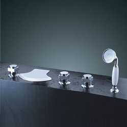 JollyHome Waterfall Tub Faucets with Hand Shower
