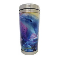 WL - 7 Inch Dolphin Underwater Scene Believe the Dream 16 oz Travel Mug - This gorgeous 7 Inch Dolphin Underwater Scene Believe the Dream 16 oz Travel Mug has the finest details and highest quality you will find anywhere! 7 Inch Dolphin Underwater Scene Believe the Dream 16 oz Travel Mug is truly remarkable.