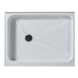 Vigo - Vigo 36 x 48 Rectangular Shower Tray White Left Drain - This Vigo shower tray serves as an excellent solution to prevent leaks for your custom or pre-built shower enclosure.