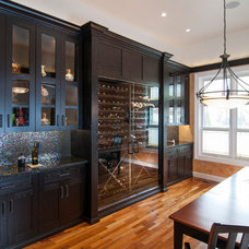 Eclectic Dining Room by Precision Cabinets