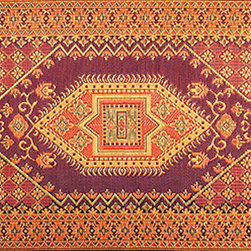 Oriental Turkish Rust - I have been pining for one of these rugs for ages — for use indoors or outdoors. Living in a room with carpet and having a deck that doesn't have the freshest wood, I really like the idea of putting my bare feet down on the clean woven plastic fabric. Since I know that I won't be able to purchase a Turkish Rug for a long time, this will definitely suffice now.