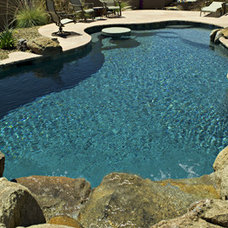 Traditional Swimming Pools And Spas by SATURN POOL COMPANY INC