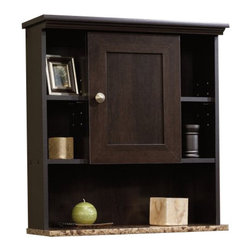 Sauder - Sauder Peppercorn Wall Cabinet in Cinnamon Cherry - Sauder - Bathroom Cabinets - 414059 -
