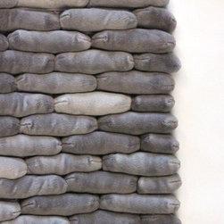 Cobblestone Area Rugs-Stone -