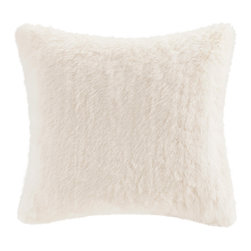 Madison Park Signature - Madison Park Signature White Fox Faux Fur Pillow - Indulge in luxury with our premium faux fur decorative pillow. The faux fur is exceptionally soft and has the warmth and texture of real fur. It adds a glamorous accent to your home. Comes in an array of animal prints. Face: 80% acrylic, 20% polyester, 680gsm faux fur Reverse: 100% polyester micro fur, 220gsm Filling: 100% polyester
