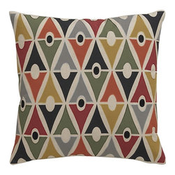 Dupree Pillow - The bold, graphic print on this pillow is just enough without being over the top. This would be the perfect choice to add a few pops of color to a room.