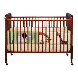 Da Vinci - DaVinci Jenny Lind 3-in-1 Stationary Convertible Mobile Wood Crib in Cherry - Da Vinci - Cribs - M7391C - The Jenny Lind crib is just right for baby. As a DaVinci original the Jenny Lind has been reengineered for safety and convenience. That's twenty years in the making. Jenny is just right. A truly timeless classic our Jenny Lind Crib is a beautifully crafted crib styled with detailed spindles throughout. Furnish your complete nursery with any of the Jenny Lind changer.
