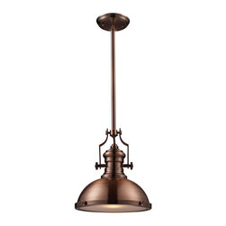 Landmark 66144-1 Chadwick 1-Light 14-Inch Pendant, Antique Copper - The antique copper finish on this hanging pendant has a rich, warm color. It would be magnificent in a bathroom.