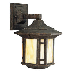 Progress Lighting - Progress Lighting P5633-46 Arts & Crafts Single Light Small Outdoor Wall Sconce - Features: