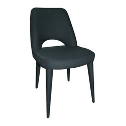 "Moe's Home Collection - Massa Dining Chair (Set of 2) - Features: -Color: Black. -Metal frame construction. -Fabric cover. -1 Year warranty. Dimensions: -Seat height: 18.1"". -Overall: 31.9"" H x 22.4"" W x 18.9"" D, 13.2 lbs."