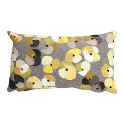 "Trans-Ocean - Pansy Grey Pillow - 12""X20"" - The highly detailed painterly effect is achieved by Liora Mannes patented Lamontage process which combines hand crafted art with cutting edge technology.These pillows are made with 100% polyester microfiber for an extra soft hand, and a 100% Polyester Insert.Liora Manne's pillows are suitable for Indoors or Outdoors, are antimicrobial, have a removable cover with a zipper closure for easy-care, and are handwashable."