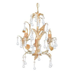 Crystorama - 3 Light ChandelierHot Deal Collection - Athena collection offers casual yet elegant, whimsical and chic chandeliers and wall sconces.