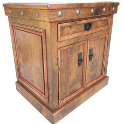 Durango 2-Door, 1-Drawer Nightstand - Nightstand shown has dark walnut stain and red glaze.  Can be customized to your liking!