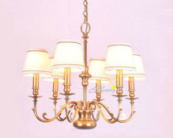 Harbor House Antique Copper 6 Fabric Shades Chandelier - Harbor House Antique Copper 6 Fabric Shades Chandelier