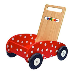 Dushi - Dushi Push n Play Activity Walker Multicolor - 21850 - Shop for Push and Pull Toys from Hayneedle.com! Your child will be able to practice stability and build confidence with the Dushi Wooden Push Car with Activity Bar. The cheery painted finish and activity bar on the handle is sure to delight your little one not to mention the front-seat ride they can give to their favorite doll or stuffed animal. The handle adjusts to two levels to adapt to your child's stature. About DushiThe folks at Dushi are committed to infusing love talent wisdom and joy into every product and service they offer. Dushi which means sweetheart in Antillean takes great pride in creating products that inspire children and adults alike to experience pleasure and build understanding of the world and their place in it. Dushi is also committed not just to our children but they operate on a People Planet Profit principle which aims to strike a balance between building a profitable business without compromising its obligations to the environment or people both within and outside the company. Dushi's company mission is all about striking the perfect balance between these three aspects while enriching the lives of children with beautiful products that ignite your child's passions and creativity.