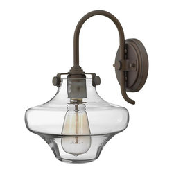 Hinkley Lighting - 3171OZ Congress Wall Sconce, Oil Rubbed Bronze, Hand Blown Clear Glass - Traditional Wall Sconce in Oil Rubbed Bronze with Hand Blown Clear glass from the Congress Collection by Hinkley Lighting.